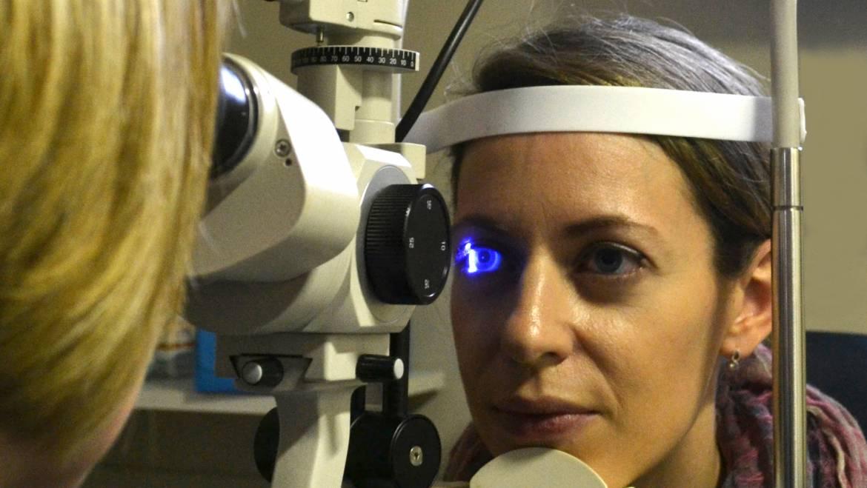 Eye checking in progress